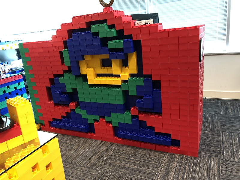 mega man built out of legos